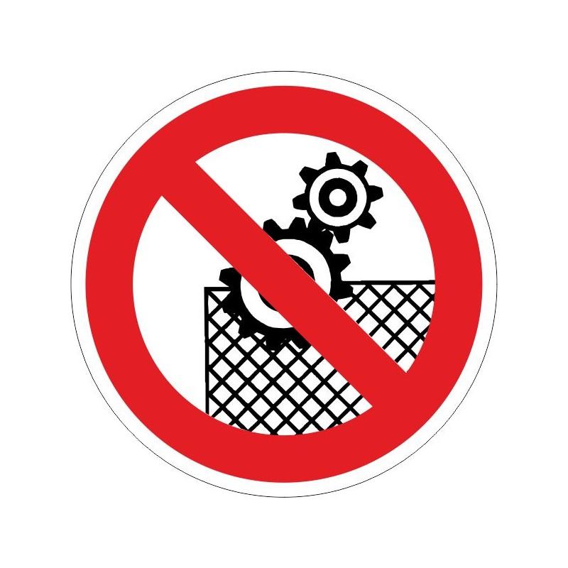 TSDS-Disco Prohibido trabajar sin el dispositivo de seguridad - Referencia TSDS