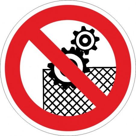 Prohibido trabajar sin el dispositivo de seguridad