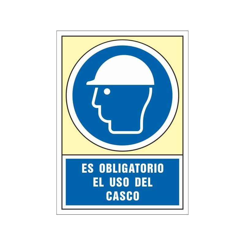 4000S-Señal Es obligatorio el uso del casco - Referencia 4000S