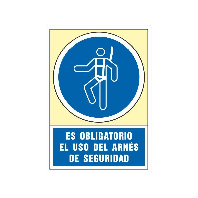 4001S-Señal Es obligatorio el uso del arnés de seguridad - Referencia 4001S