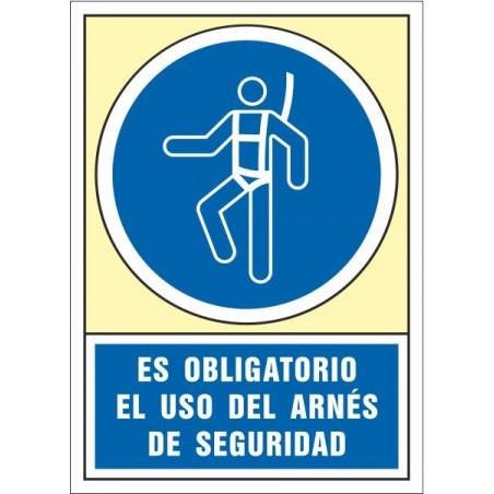 Es obligatorio el uso del arnés de seguridad