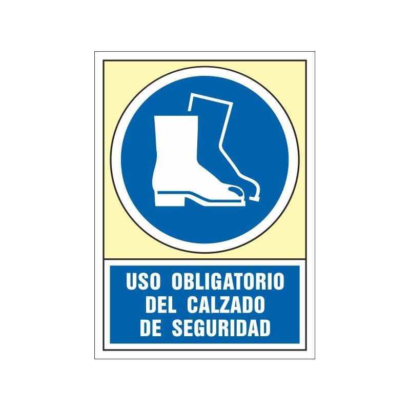 4005S-Señal Uso obligatorio del calzado de seguridad - Referencia 4005S
