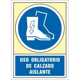 SYSSA,Señal Es obligatorio el uso de las botas aislantes