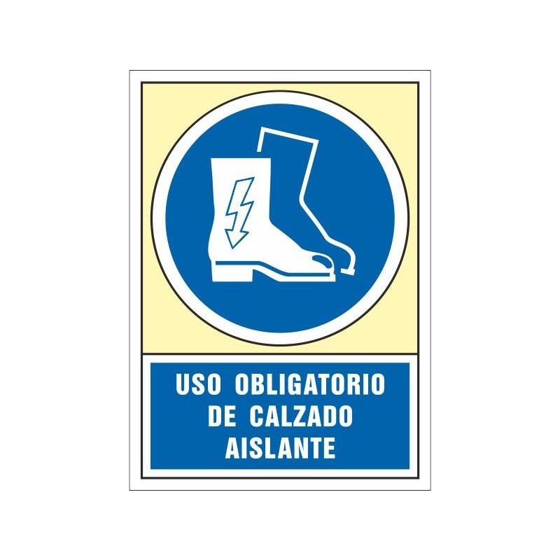 4006S-Señal Es obligatorio el uso de las botas aislantes - Referencia 4006S