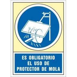 SYSSA,Señal Es obligatorio el uso de protector de mola