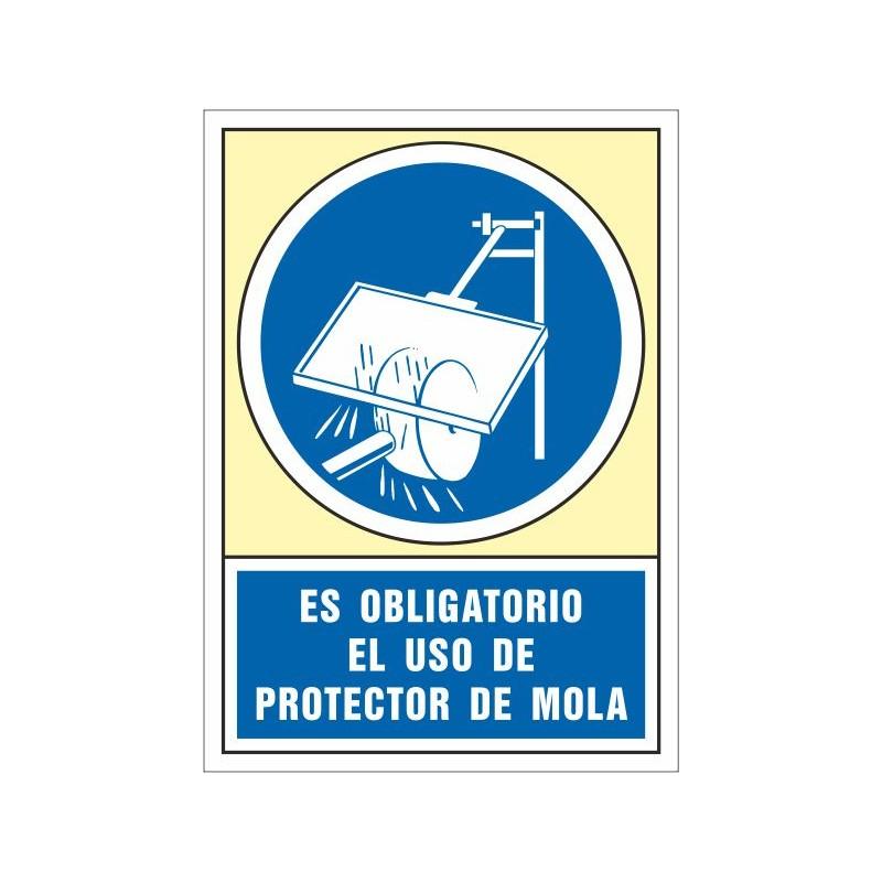 4010S-Señal Es obligatorio el uso de protector de mola - Referencia 4010S
