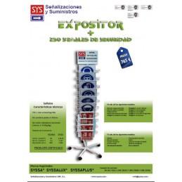 SYSSA-EXPOSITOR DE SEÑALIZACIÓN 2 CUERPOS + 250 SEÑALES SYSSA