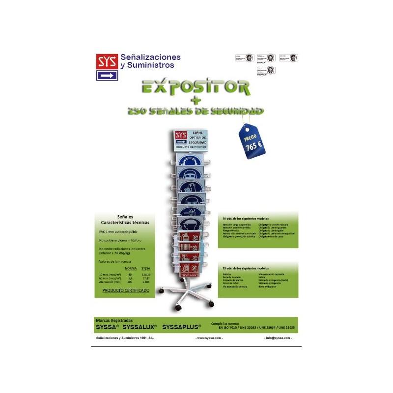 EXPOSITORSYSA2C-EXPOSITOR DE SEÑALIZACION 2 CUERPOS + 250 SEÑALES SYSSA