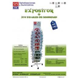 SYSSA-EXPOSITOR DE SEÑALIZACIÓN 2 CUERPOS + 370 SEÑALES SYSSA