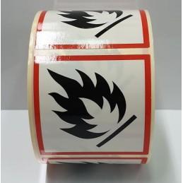 """SYSSA - Tienda Online - Etiquetas adhesivas para envases """"Inflamable"""" 50x50 mm"""