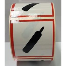 """SYSSA - Tienda Online - Etiquetas adhesivas para envases """"Gases Comprimidos"""" 25x25 mm"""
