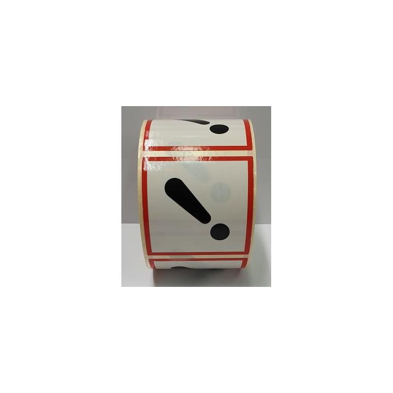 """GHS0725ASR-""""Efectes adversos en dosis altes"""" Rotllo d'Etiquetas adhesivas per envasos 25x25 mm."""