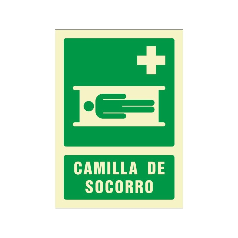 """OF509029PF-OFERTA Camilla de socorro - Fotoluminiscente Clase """"B"""""""