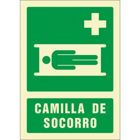 """OFERTA Camilla de socorro - Fotoluminiscente Clase """"B"""""""