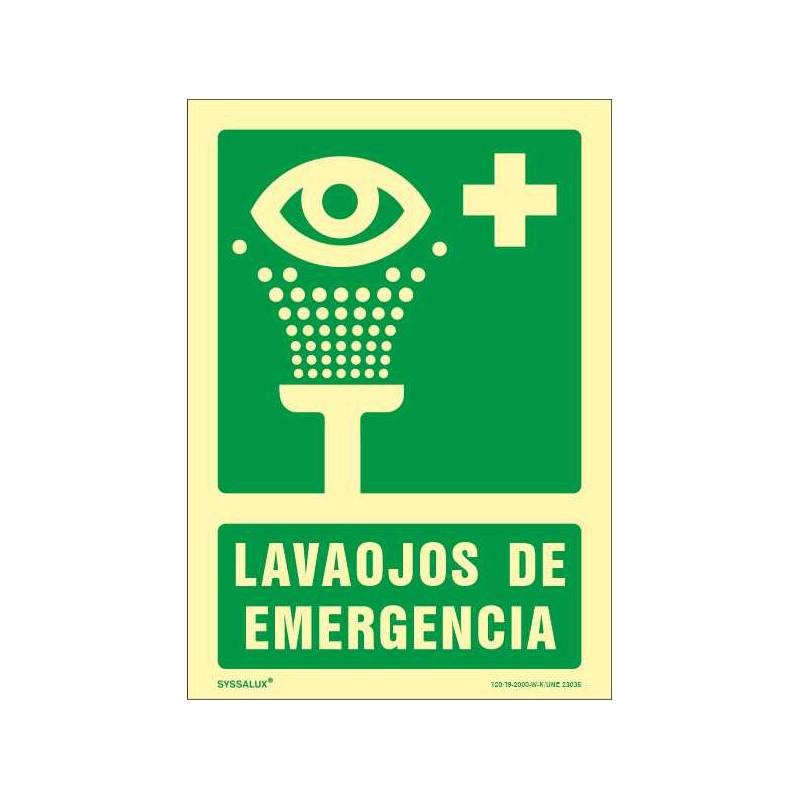 OF504129PF-OFERTA Lavaojos de Emergencia - Fotoluminiscente