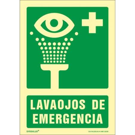 OFERTA Lavaojos de Emergencia - Fotoluminiscente