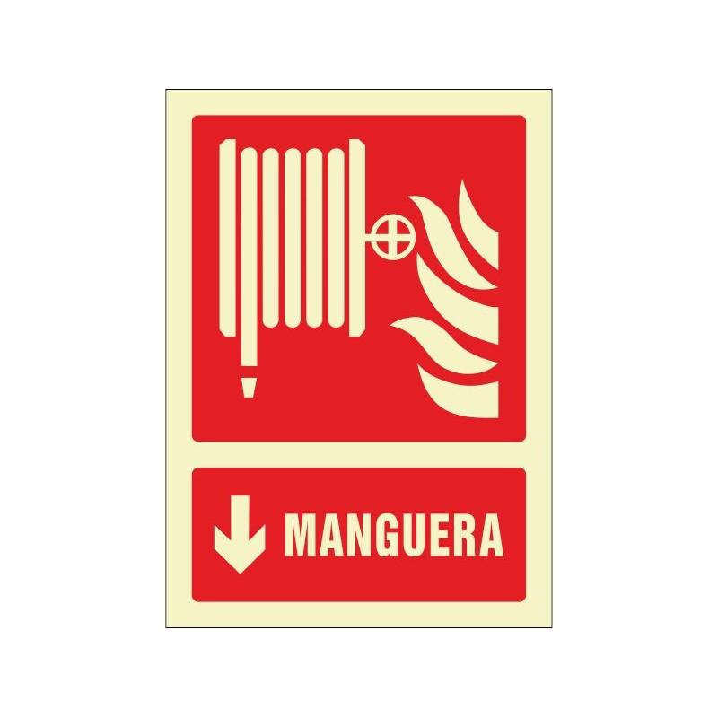 OF602829PF-OFERTA Manguera flecha abajo - Fotoluminiscente