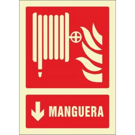 OFERTA Manguera flecha abajo - Fotoluminiscente