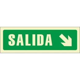 SYSSA,Señal Salida flecha derecha abajo