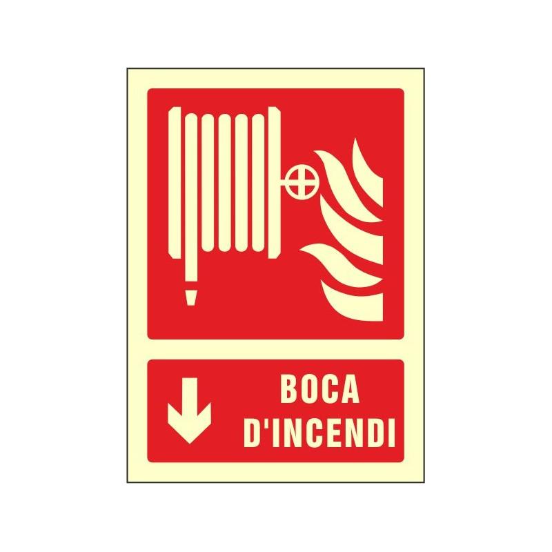 """OF602429PFCA-OFERTA OF602429PFCA Boca d'incendi fletxa avall- Fotoluminiscente Clase """"A"""""""