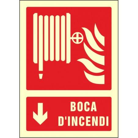 """OFERTA OF602429PFCA Boca d'incendi fletxa avall- Fotoluminiscente Clase """"A"""""""