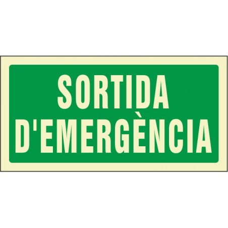 "OFERTA OF907042PFCA Sortida d'emergència - Fotoluminiscente Clase ""A"""