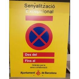 SYSSA - Tienda Online - Señal Excepcional por Obras, Ayuntamiento de Barcelona