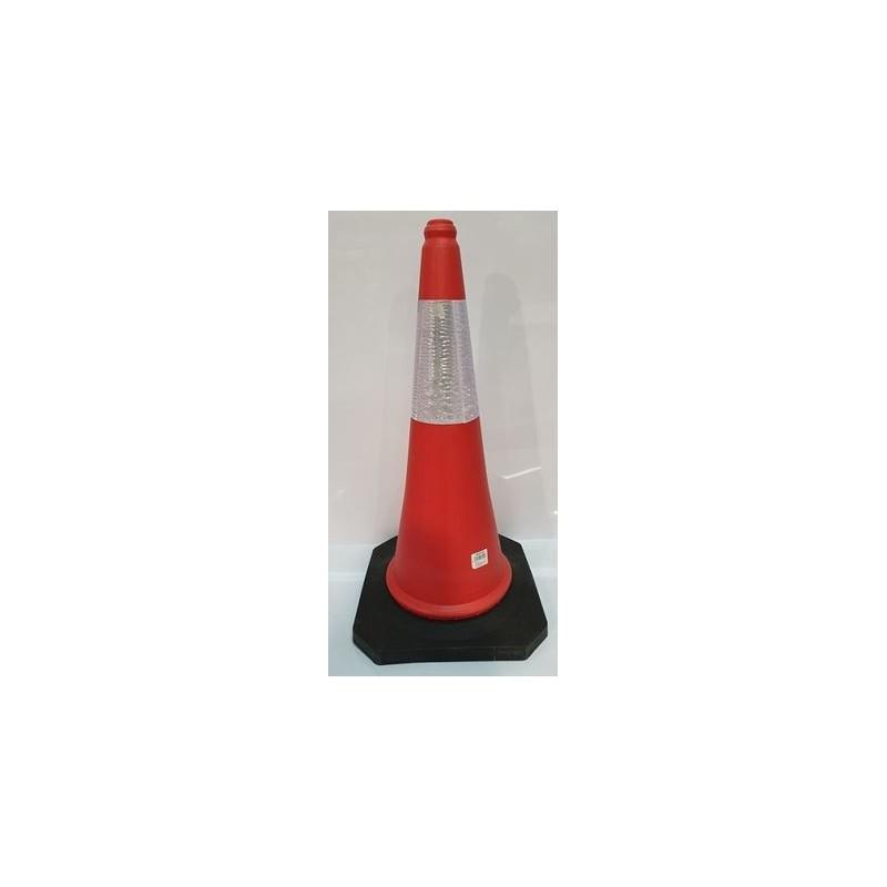 0BCR75C-Cono de señalización tráfico color Naranja con banda reflectante de 75 cm. altura