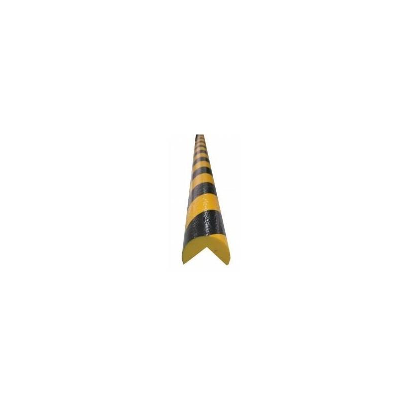 PERFIL2C-Perfil protector ignífugo amarillo/negro con forma de 3/4 Círculo