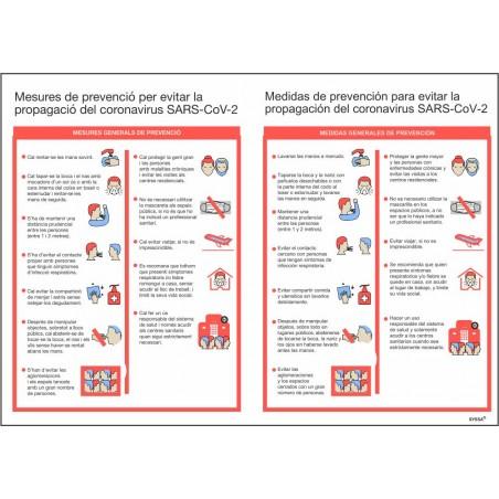 Señal Normas Actuación para Prevención ante Covid-19