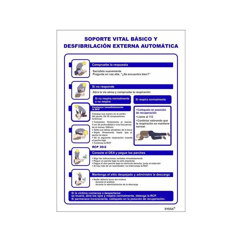 0PADEA-Señal DEA-AED Normas de Actuación uso Desfibrilador