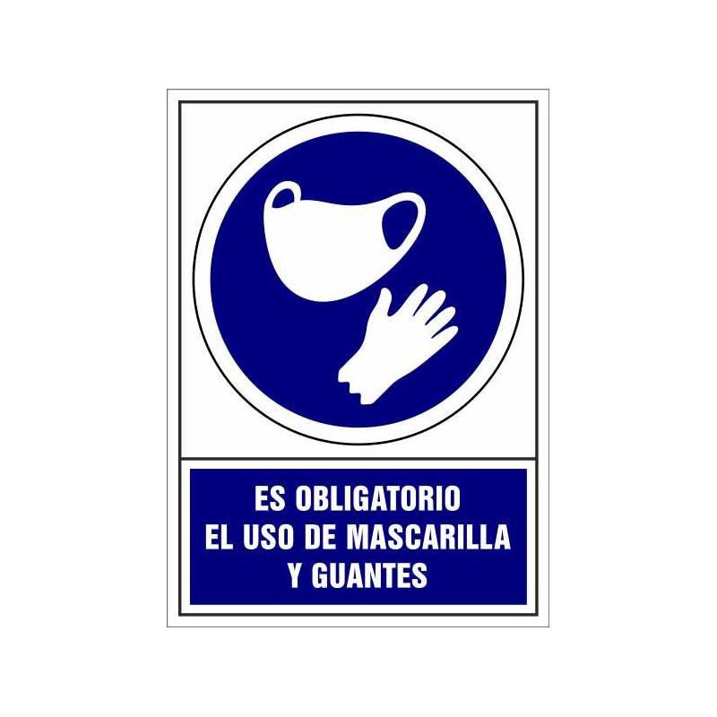 CVD401-Uso Obligatorio de Mascarilla y Guantes - Covid-19