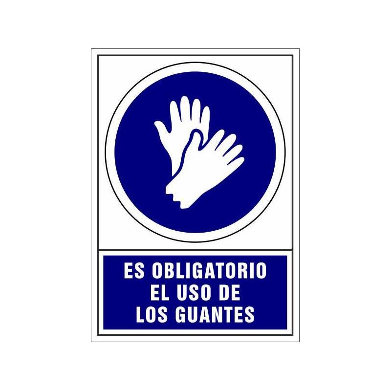 CVD403-Señalización Covid-19 - Es Obligatorio el uso de Guantes