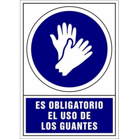 Es Obligatorio el uso de Guantes - Covid-19