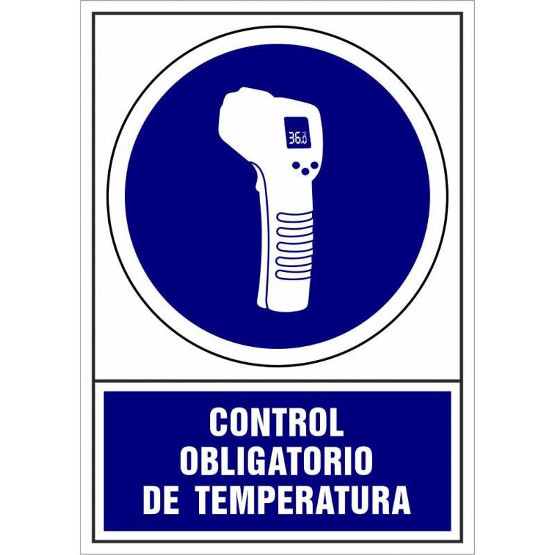 CVD406-Señalización Covid-19 - Señal de Control Obligatorio de Temperatura