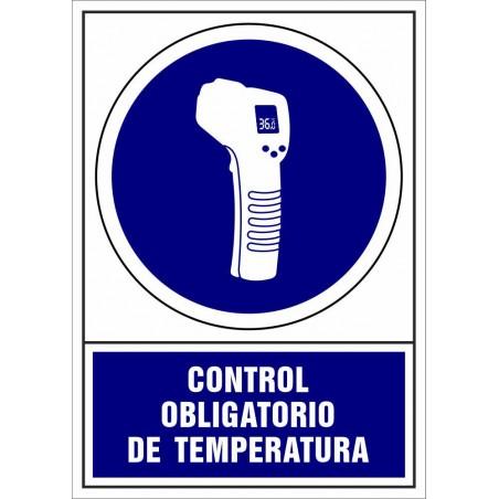 Señal de Control Obligatorio de Temperatura - Covid-19