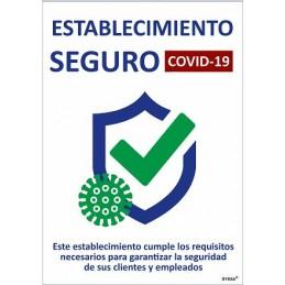 SYSSA - Tienda Online -  COVID-19 Señal de Establecimiento  Seguro - Señalizacion Covid-19