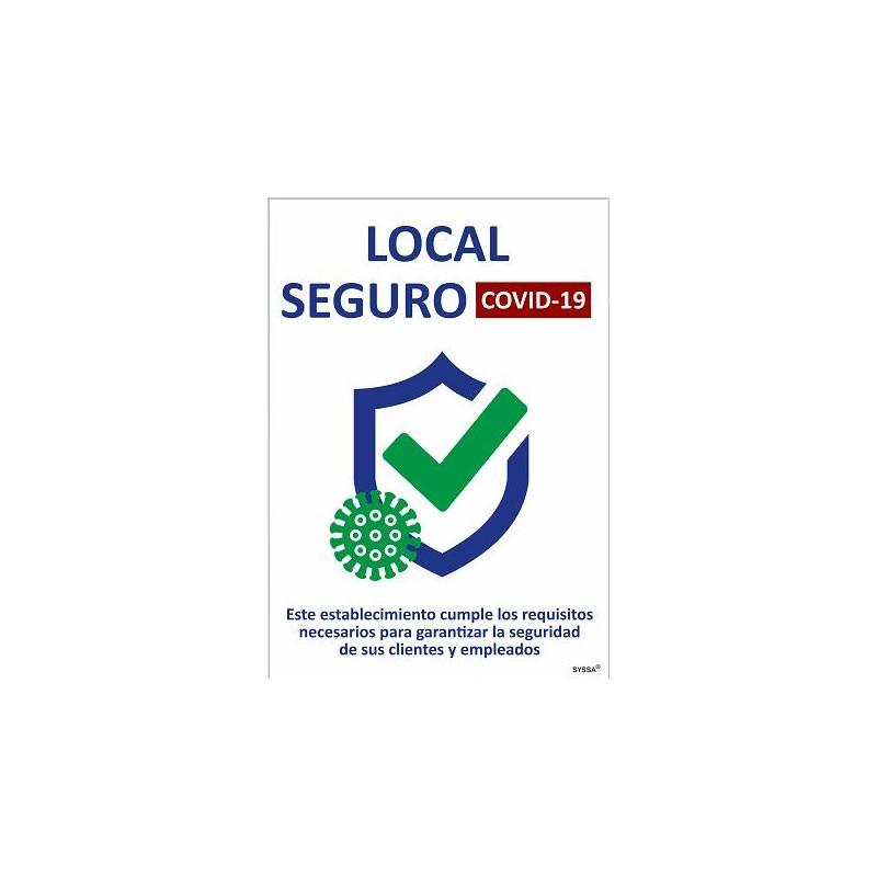 CVDLS-COVID-19 Señal de Local Seguro - Señalización Covid-19