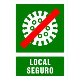 SYSSA - Tienda Online -  COVID-19 Señal de Local Seguro tipo Ref. 5000