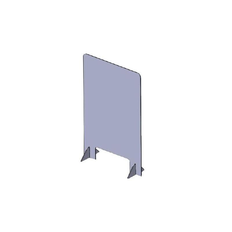 CVDMAM2-Covid-19 Mampara de seguridad para sobremesa con ventanilla, incluye soportes