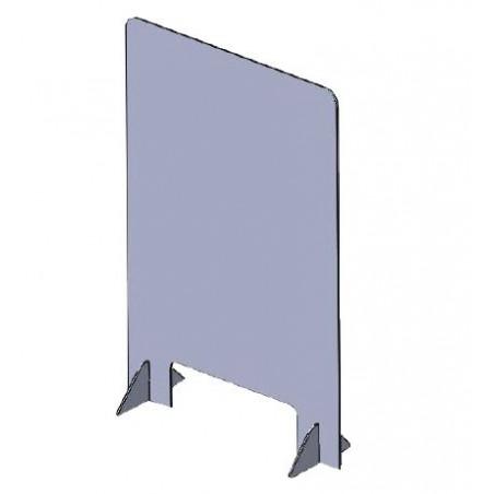 Covid-19 Mampara de seguridad para sobremesa con ventanilla, incluye soportes