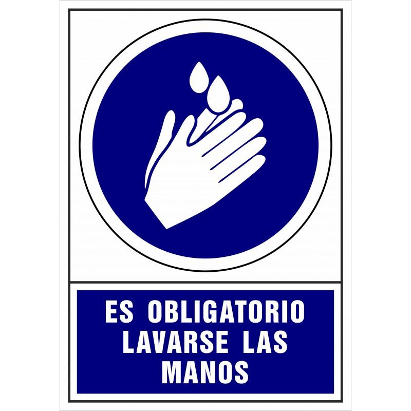 CVD407-Señal de Es obligatorio lavarse las manos - Señalización Covid-19