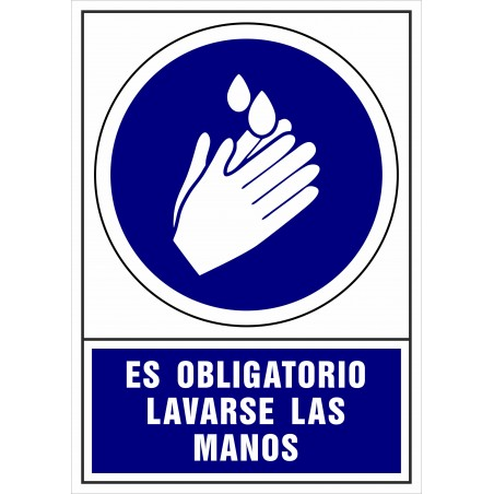 Covid-19 Señal de Es obligatorio lavarse las manos