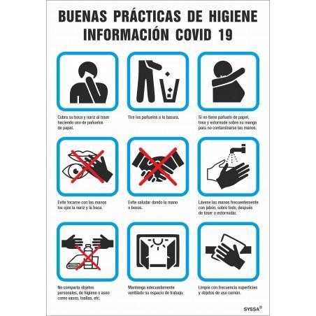Covid-19 Señal de Buenas Practicas para la Prevención de contagio