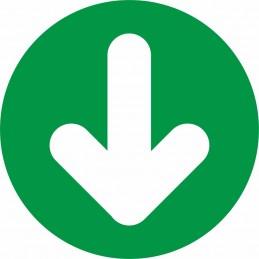 """SYSSA - Tienda Online -  disco adhesivo antideslizante para suelo """"Salida - Sentido a seguir en itinerario Covid-19"""