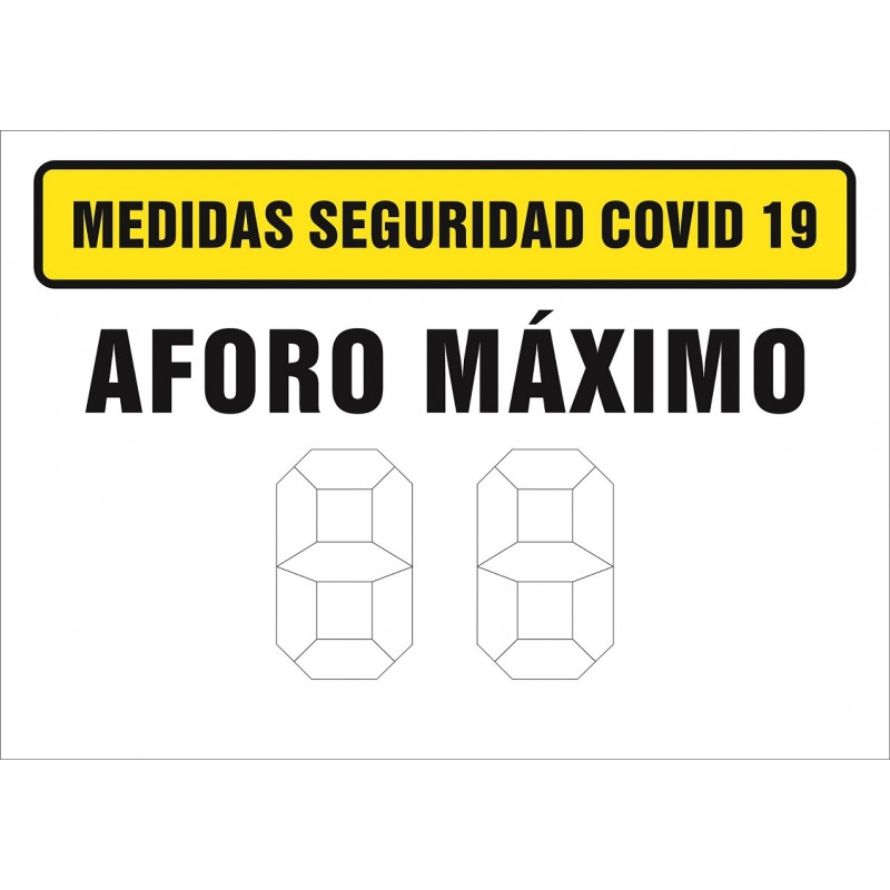 CVDAFM-Señalización Covid-19 - Señal de Aforo máximo