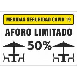 SYSSA - Tienda Online -  Señal Aforo Máximo Terrazas para Prevención Covid-19