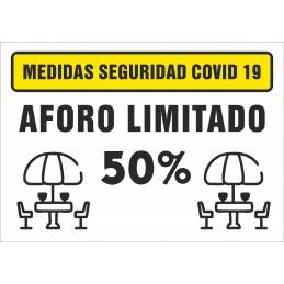 SYSSA - Tienda Online -  Señal Aforo limitado Terrazas para Prevención Covid-19