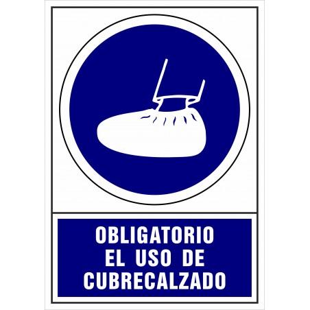 Covid-19 Señal Es obligatorio usar cubrecalzado