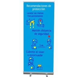 SYSSA - Tienda Online -  Roll Up Estandar Recomendaciones prevención - Covid-19